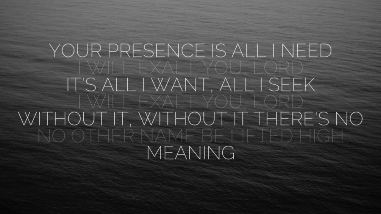 I Will Exalt - Bethel (Lyrics)