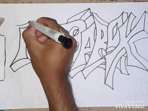 Kumpulan Huruf Graffiti Listen Vv