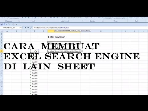 Membuat excel Search Engine Dilain sheet