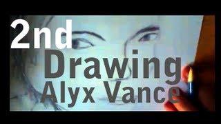 Half-Life Drawing - Alyx Vance