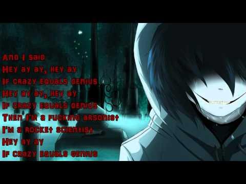 nightcore Crazy=Genius (with lyrics)