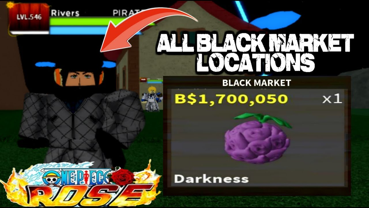 All Black Market Locations One Piece Rose Roblox Youtube
