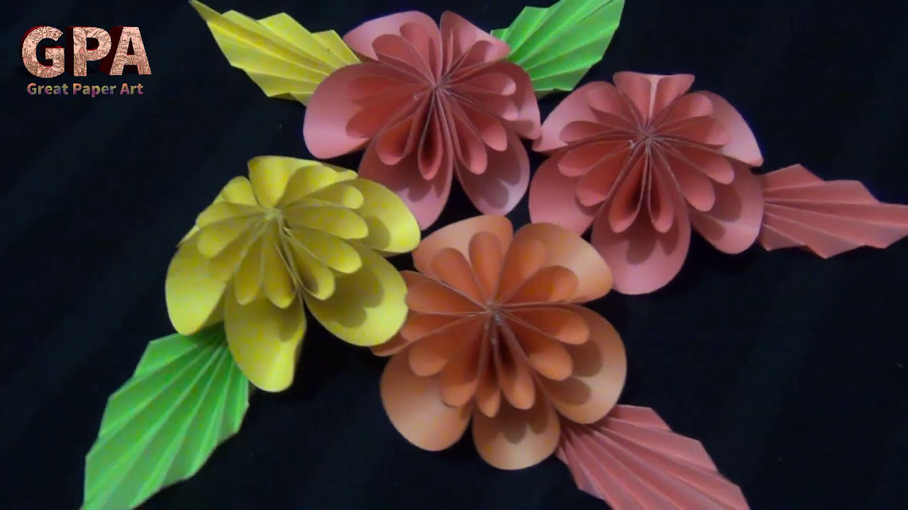 How To Make Origami Paper Flower Arrangement Easy Origami Flowers
