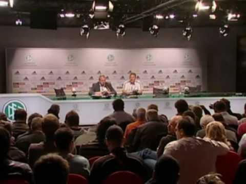 FIFA World Cup 2010 - Germany vs Argentina - Schweinsteiger and Mueller interview