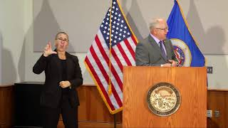 WATCH LIVE: Gov. Walz introduces new leader of MN National Guard, takes questions from reporters