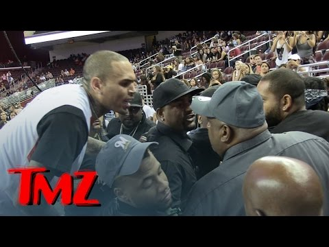 Chris Brown Goes Off On Fan During Basketball Game, Cops Step In | TMZ