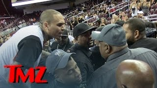 Chris Brown Goes Off On Fan During Basketball Game, Cops Step In