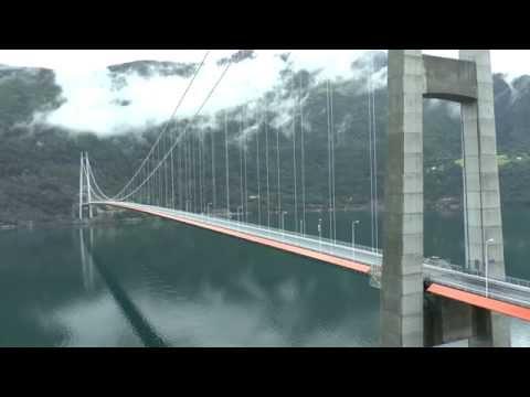 hardangerbridge over the hardanger fjord norway (video by ben&hanny)