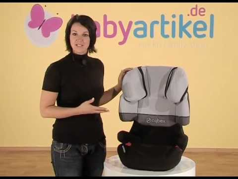 cybex solution x fix kindersitz gr 2 3 youtube. Black Bedroom Furniture Sets. Home Design Ideas