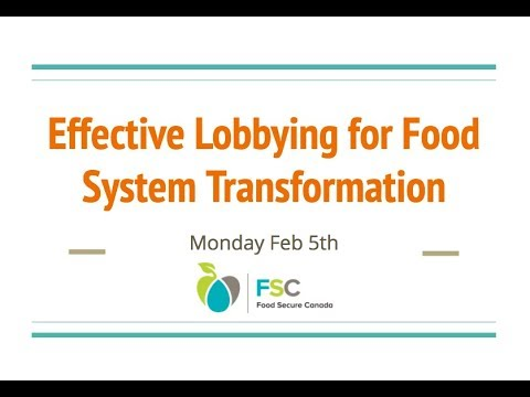 [WEBINAR] Effective Lobbying for Food System Transformation