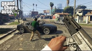 GTA V on PC: First person robbery and police chases. 1080p 60fps
