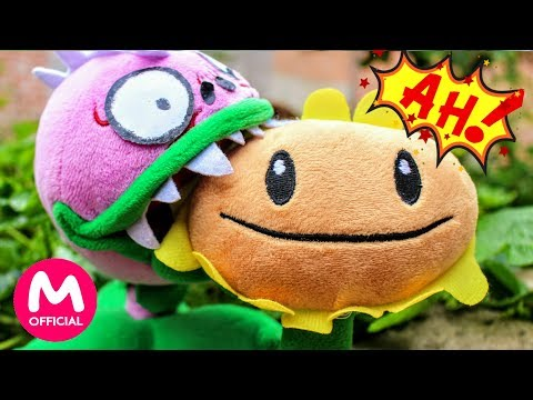 Plants vs Zombies Plush Toys: The Chomper turned into a zombie and ate Sunflower | MOO Toy Story