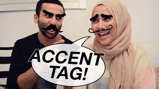 One of Sid and Dina's most viewed videos: THE ACCENT TAG!