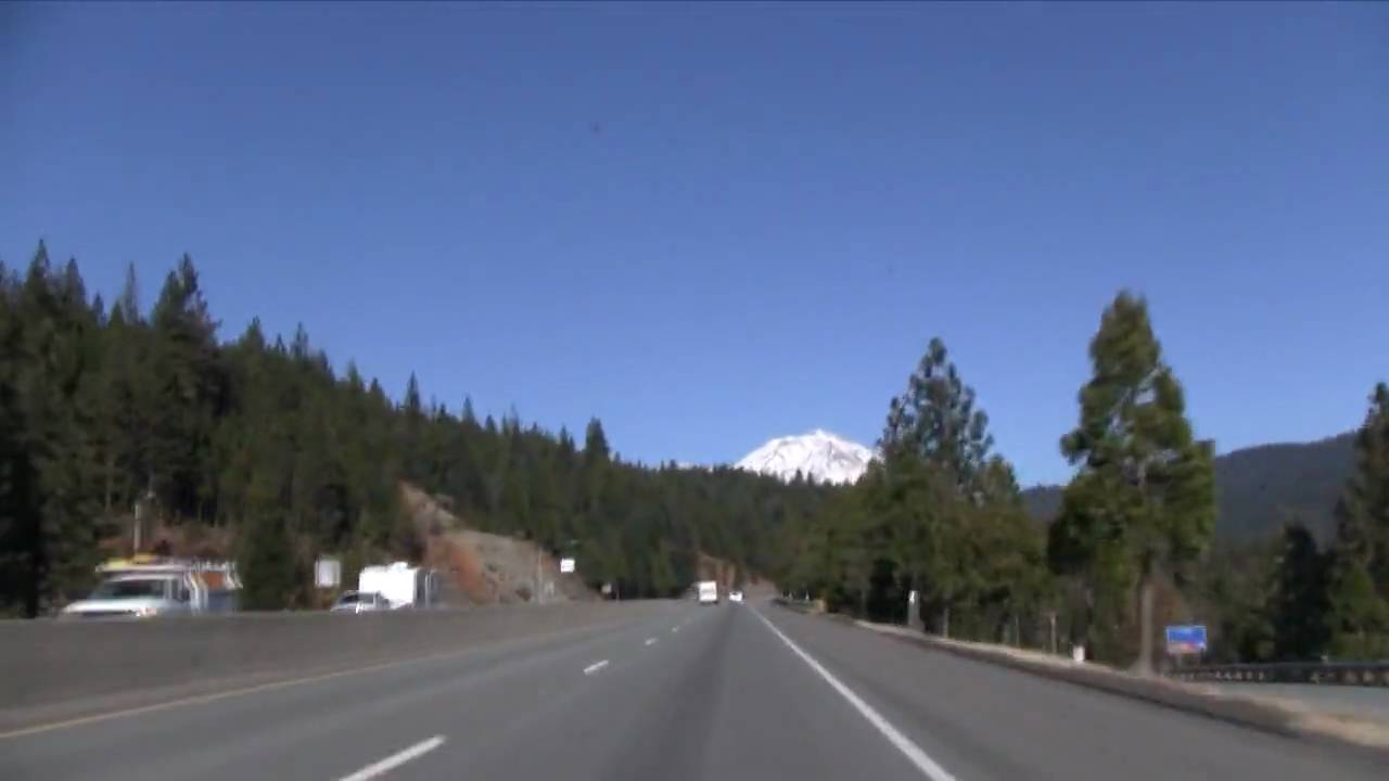 Mt Shasta Ca >> I-5 North (CA), Mt. Shasta & Black Butte Mountain, Exit 714 To Exit 747 - YouTube