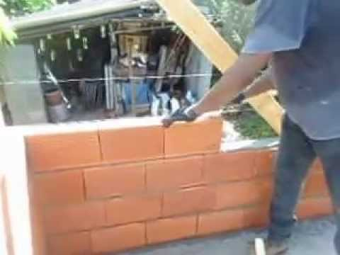 How To Lay A Standard 4x8x12 Quot Hollow Clay Block Youtube
