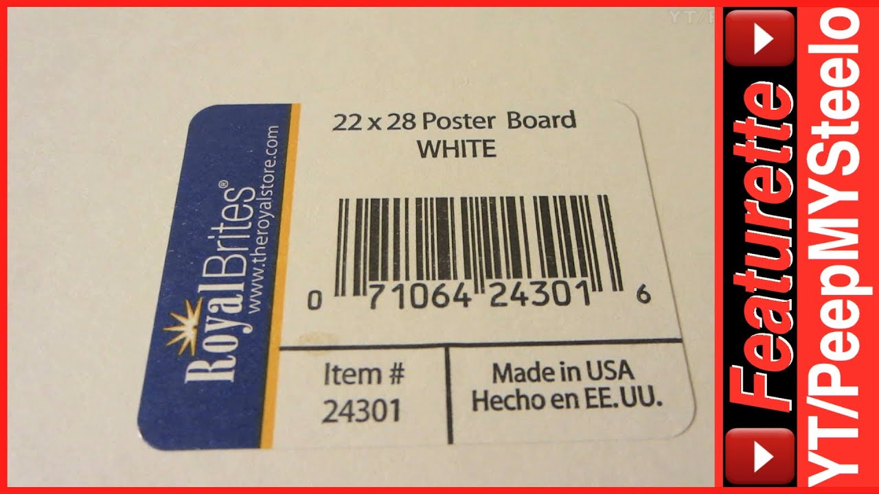 royal brites standard poster board size in 22 x 28 frame dimensions for foam or cardboard mounting youtube