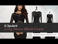 8 Opulent Long Sleeve Black Gown Amazon Gown Collection 2017
