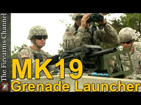 MK19 Grenade Launcher In Army Training