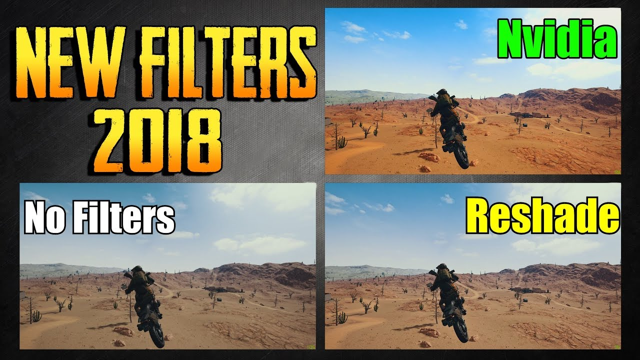 PLAYERUNKNOWN'S BATTLEGROUNDS NVIDIA FREESTYLE RESHADE SETTINGS! NEW FILTER  SETTINGS! PUBG LIVE!
