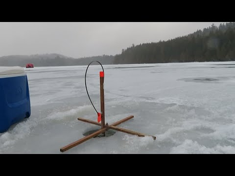 Ice Fishing Prong Pond In Maine