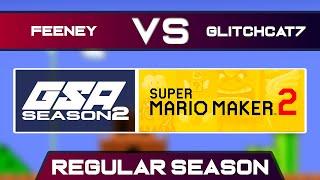 thedragonfeeney vs GlitchCat7 | Regular Season | GSA SMM2 Endless Mode Speedrun League DA Season 2