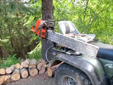 Atv Chainsaw Carrier Or Holder Youtube