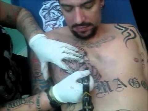 Tatuaje Mago Pecho Y Pentaculo Barriga A Estebanitox Youtube