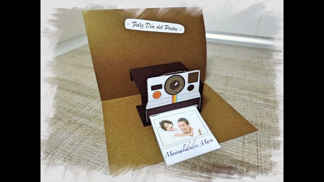 Manualidades Tarjeta Camara Polaroid Regalo Día Del Padre Youtube