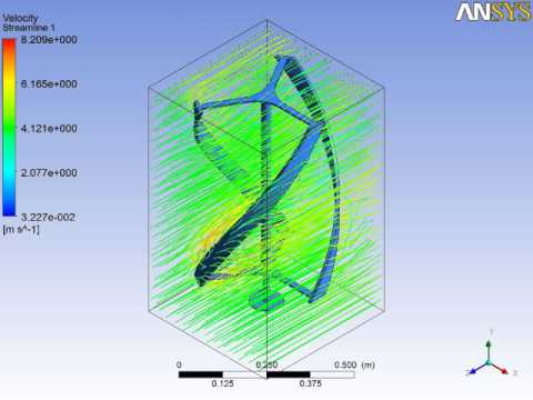simulation wind turbine darrieus - YouTube
