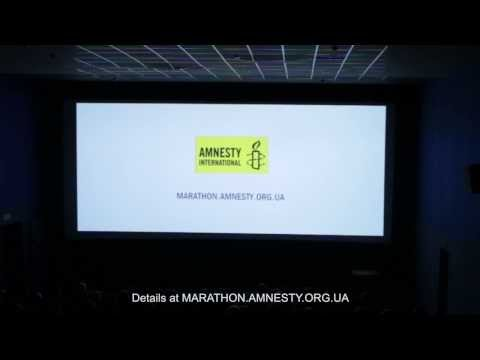 Kidnapping performance for human rights in movie theater