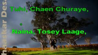 Naina Tose Laage - Asha Bhosale, Ghulam Ali Karaoke