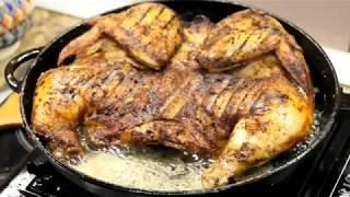 Цыпленок табака  на сковороде гриль.(, 2017-10-17T18:54:44.000Z)