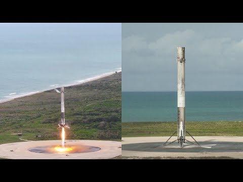 SpaceX CRS-11: Falcon 9 landing (close-up), 3 June 2017