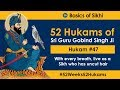 Hukam 47 Of 52 With Every Breath Live As A Sikh Who Has Uncut Hair 4K
