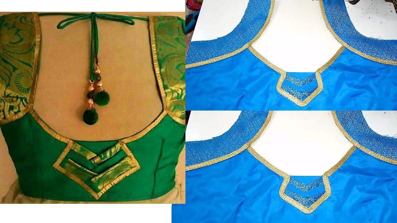 307b3f83d0 Diwali Silk Saree New Blouse Design Cutting Stitching classes - YouTube