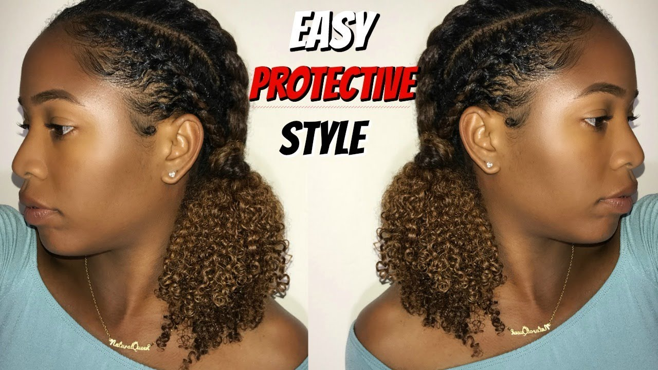 Easy Protective Style For Natural Hair   YouTube