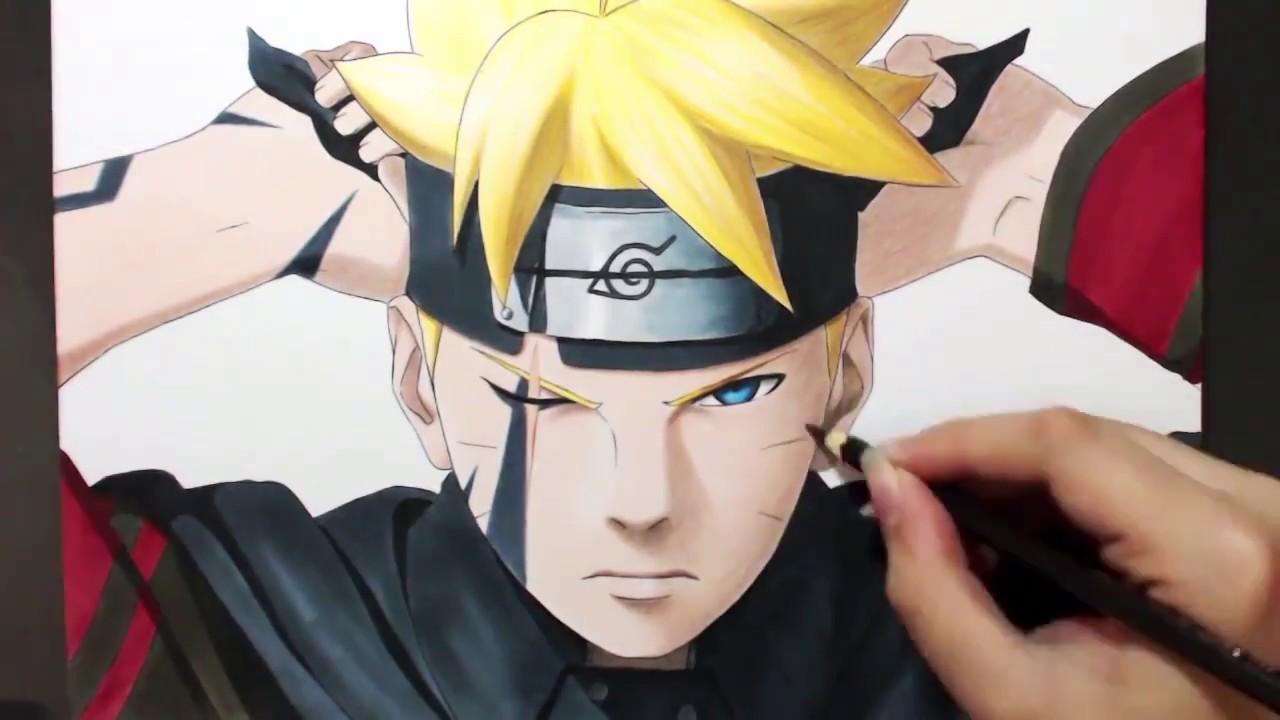 Speed Drawing Boruto Uzumaki - YouTube
