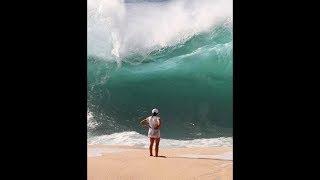 موجة قوية لم تكن متوقعة أبتلعت امرأه... ثم حدث هذا !!