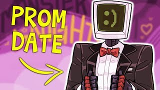 I BROUGHT MYSELF TO PROM | Monster Prom Second Term - Part 2