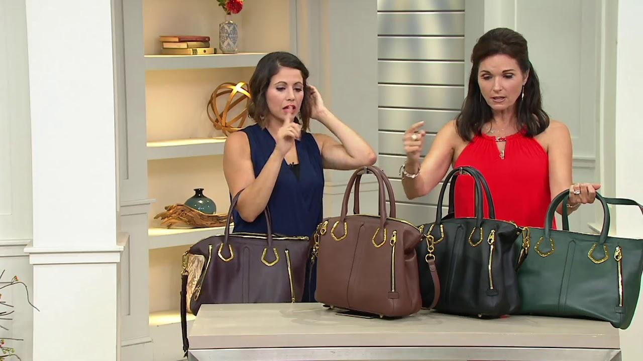 Oryany Pebble Leather Satchel Handbag Nicole On Qvc