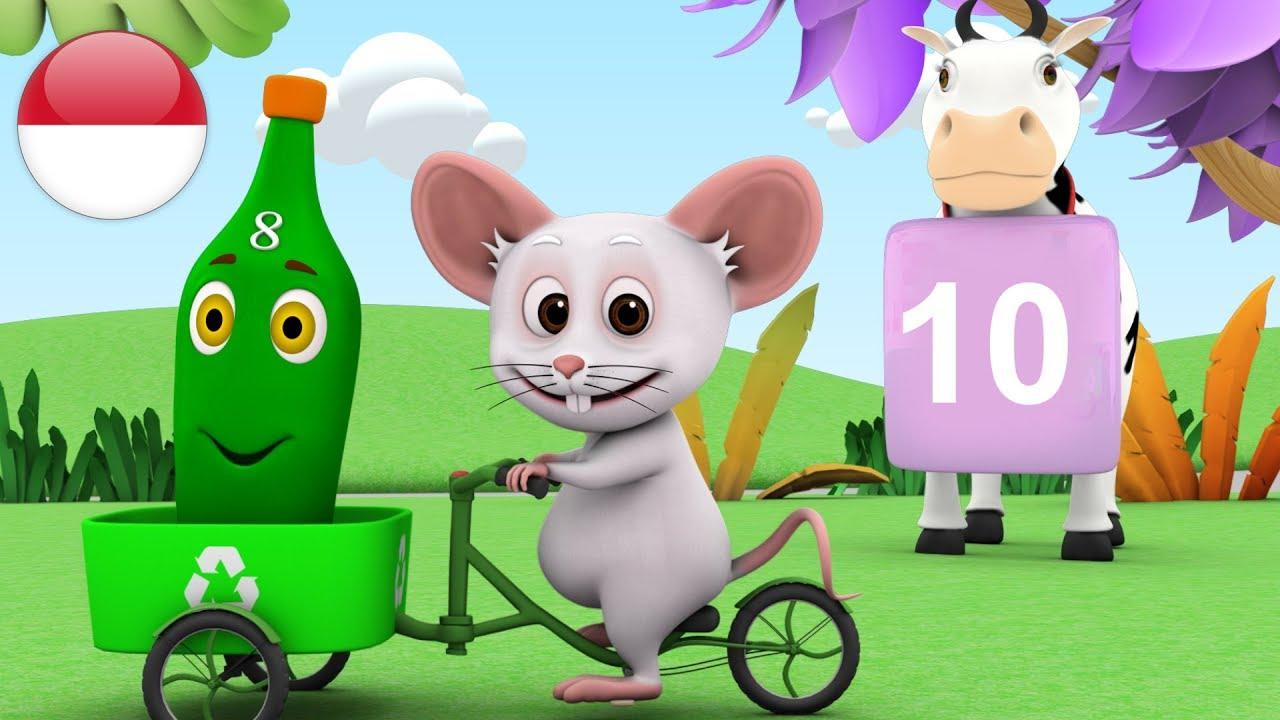 Sepuluh Botol Hijau Lagu Anak Kartun Anak Ten Bottles Green