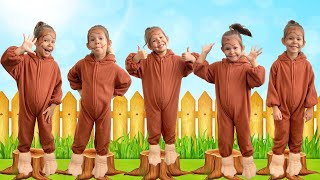 Five Little Monkeys Jumping on the Bed | Children nursery rhymes!