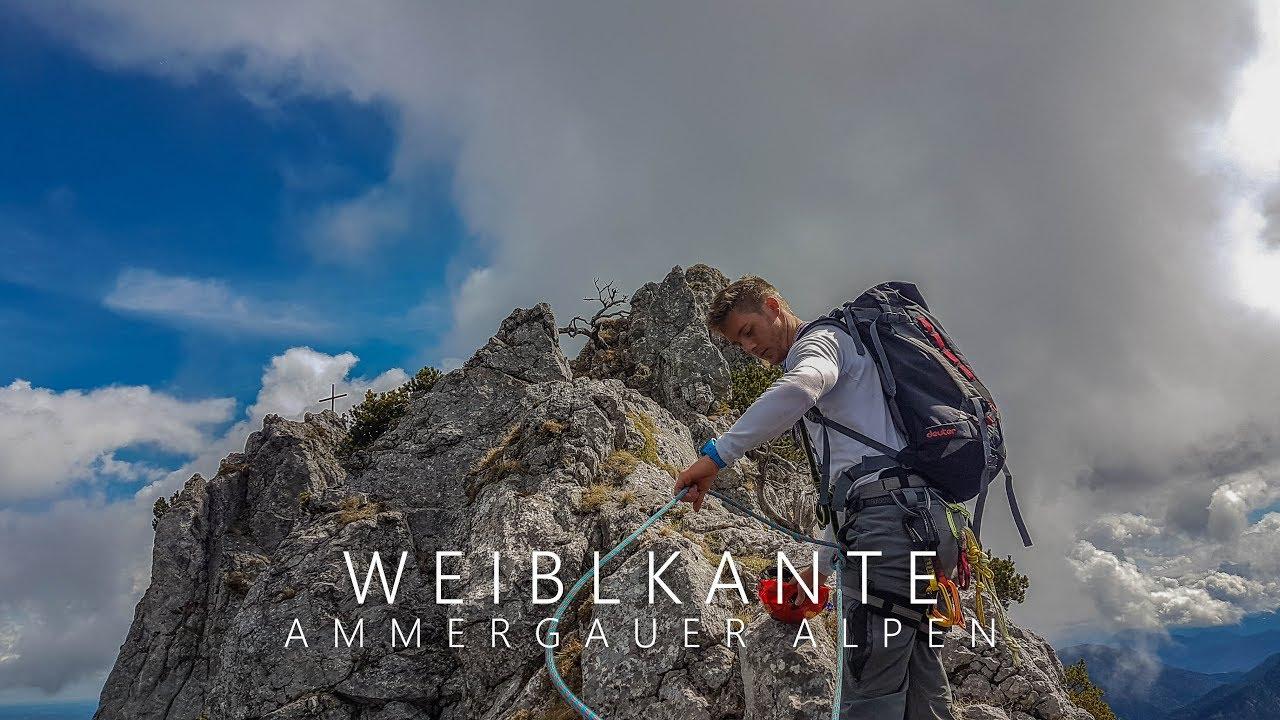 Ettaler Mandl Klettersteig Unfall : Ettaler mandl via weiblkante climb oberammergau youtube