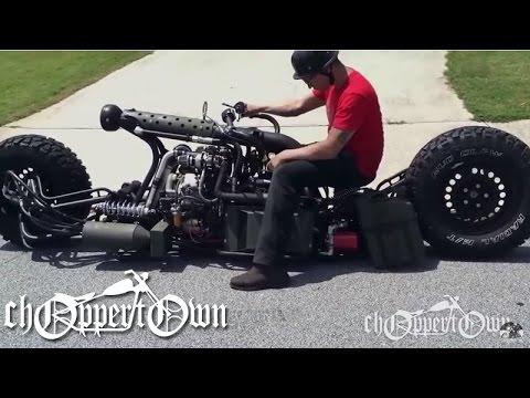 Twin Turbo Diesel AWD Motorcycle (Bike & Builder episode 2)
