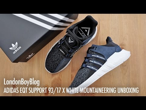 wholesale dealer df389 93597 Adidas Eqt Support 9317 X White Mountaineering Unboxing - YT