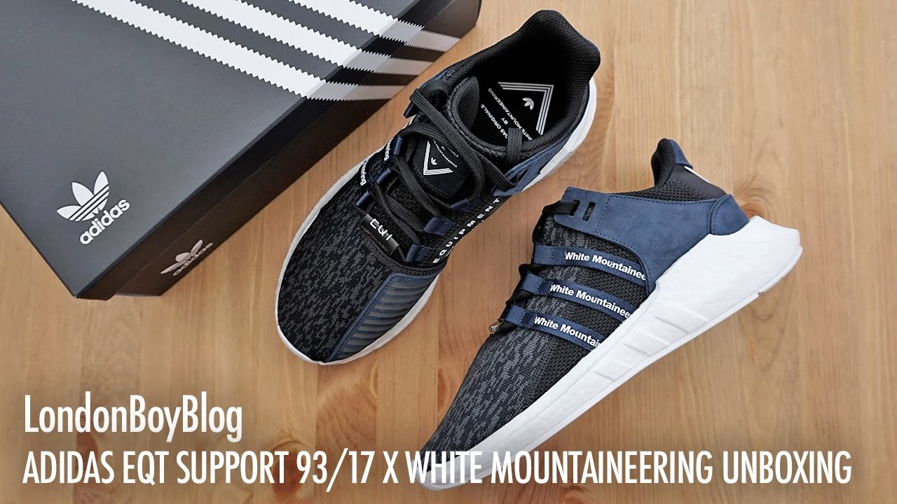 Adidas EQT Support 93/17 (White, Black & Turbo) End