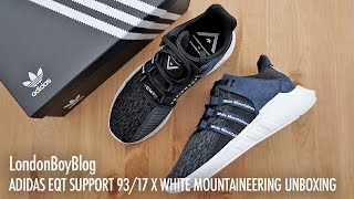 adidas eqt support 93 17 x white mountaineering unboxing