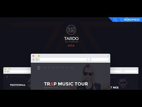 TARDO // WordPress Theme For DJ Producer / Musician / Music Band