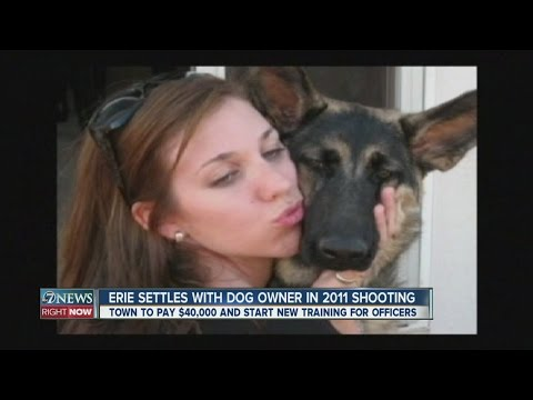 $40K settlement reached in cop shooting of Erie dog