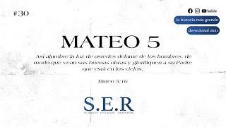 Mateo 5 — Devocional S.E.R.  #30